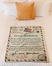 "Dear Great-Grandson Small Fleece Blanket - 30"" x 40"" aos-coral-fleece-blanket-30x40-lifestyle-front-04"