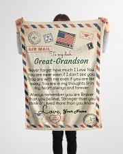 "Dear Great-Grandson Small Fleece Blanket - 30"" x 40"" aos-coral-fleece-blanket-30x40-lifestyle-front-14"