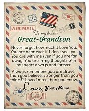 """Dear Great-Grandson Small Fleece Blanket - 30"""" x 40"""" front"""