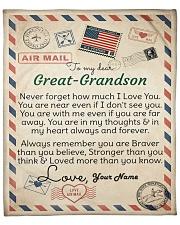 Dear Great-Grandson Fleece Blanket tile