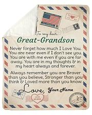 Dear Great-Grandson Sherpa Fleece Blanket tile