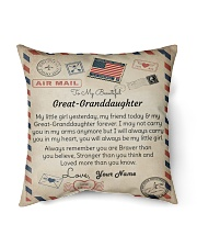 """To My Beautiful Great-Granddaughter Indoor Pillow - 16"""" x 16"""" front"""