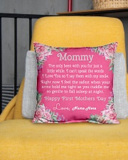 """Mommy First Mother's Day  Indoor Pillow - 16"""" x 16"""" aos-decorative-pillow-lifestyle-front-01"""