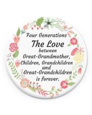 Great-Grandparents Special Circle ornament - single (porcelain) front