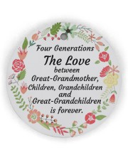 Great-Grandparents Special Circle Ornament (Wood tile