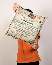 """To My Beautiful Granddaughter Indoor Pillow - 16"""" x 16"""" aos-decorative-pillow-lifestyle-front-02"""