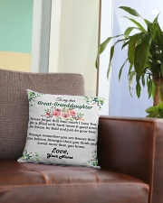 To My Great-Granddaughter Square Pillowcase aos-pillow-square-front-lifestyle-03