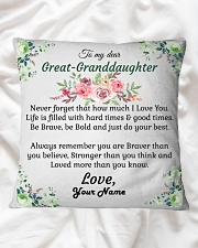 To My Great-Granddaughter Square Pillowcase aos-pillow-square-front-lifestyle-31