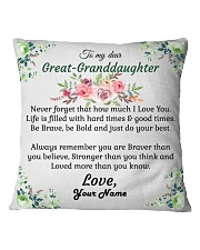 To My Great-Granddaughter Square Pillowcase front