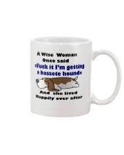 Mug basset hound Awise Woman  Mug front