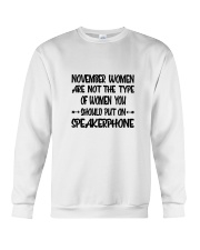 November Women Speakerphone Crewneck Sweatshirt thumbnail
