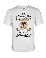 November Nurse Job V-Neck T-Shirt thumbnail
