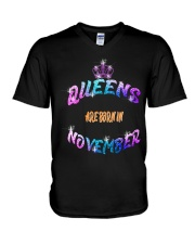 Queens Are Born in November LIMITED EDITION V-Neck T-Shirt thumbnail