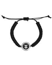 My pitbull family Cord Circle Bracelet front