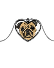 Jewelery pugs Metallic Heart Necklace front
