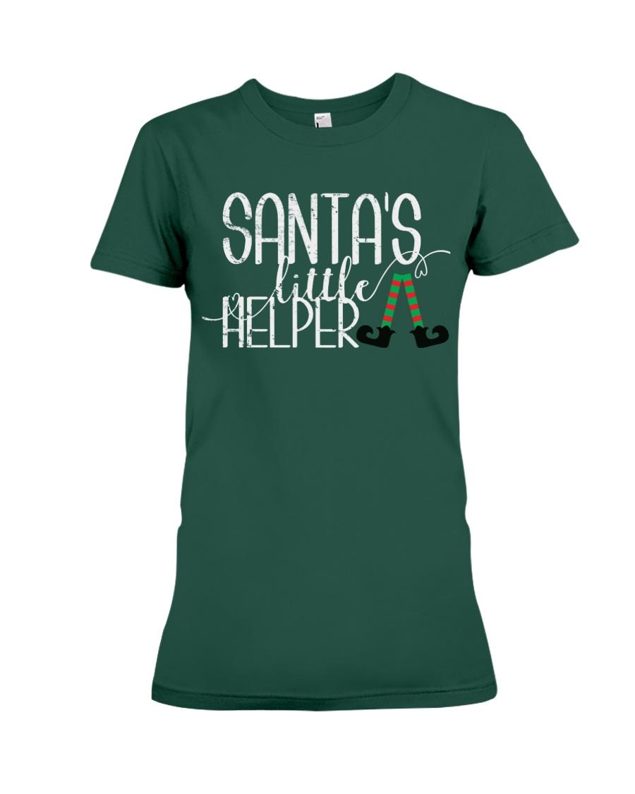 Santa's Little Helper Premium Fit Ladies Tee
