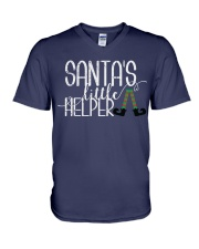 Santa's Little Helper V-Neck T-Shirt front