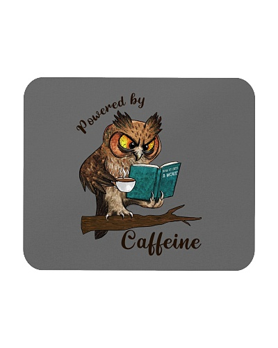 Powered by Caffeine - Funny Owl