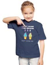 I Only Want Ice Creams Youth T-Shirt lifestyle-youth-tshirt-front-2