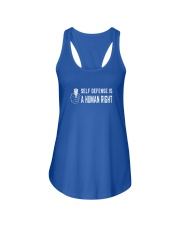 Self Defense is a Human Right Ladies Flowy Tank front