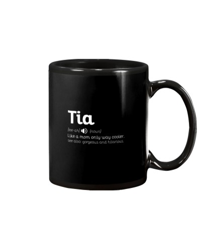 Tia Cool Aun Funny Aunty Definition Gift Tee