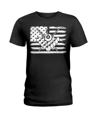 American Flag Billiard Pool Player