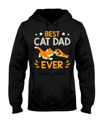 Best Cat Dad Ever Paw Fist Bump for men
