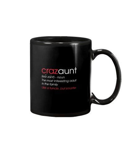 Womens Crazaunt Crazy Aunt Gift for Aunts