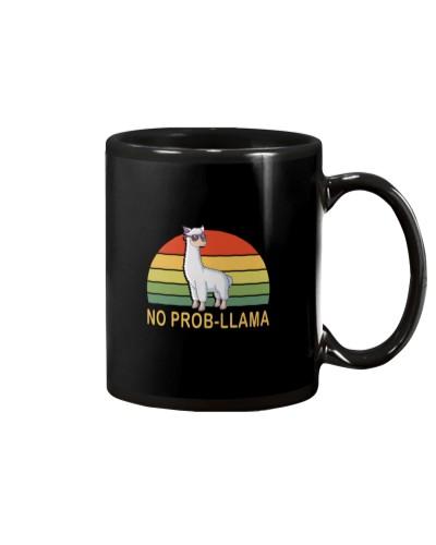 No Prob-Llama - Retro Funny Llama Alpaca