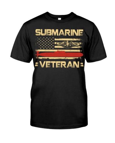 Vintage Submarine Veteran American Flag Vets
