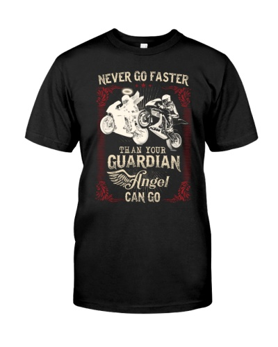 Funny biker never faster than guardian angle go