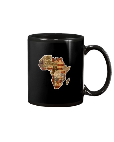 African pride traditional ethnic Africa map