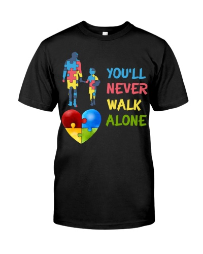 You'll Never Walk Alone Puzzle Pieces Autism