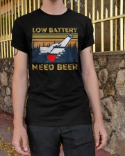 Low Battery - Need Beer - Funny Beer  Classic T-Shirt apparel-classic-tshirt-lifestyle-21