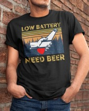 Low Battery - Need Beer - Funny Beer  Classic T-Shirt apparel-classic-tshirt-lifestyle-26