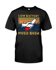 Low Battery - Need Beer - Funny Beer  Classic T-Shirt front