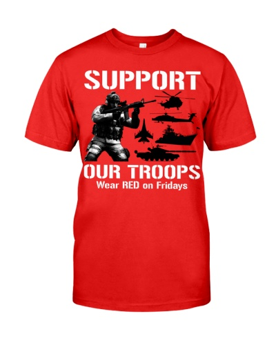 Wear Red On Friday Military We Support Our Troops