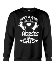 I Just Really Like Horse Crewneck Sweatshirt tile