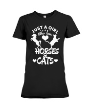 I Just Really Like Horse Premium Fit Ladies Tee thumbnail