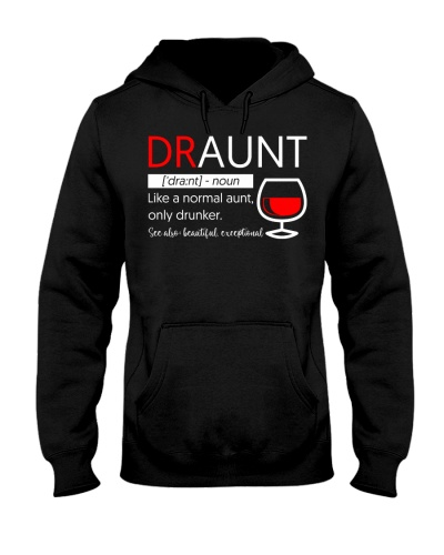 Womens Draunt Definition Funny Aunt Wine Lover