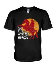 I Just Really Like Horse V-Neck T-Shirt thumbnail