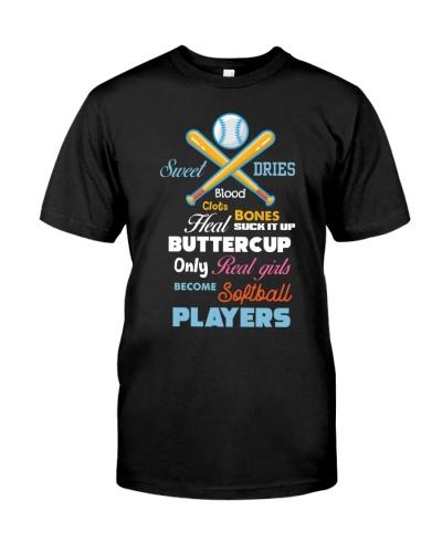 Real Girls Become Softball Players gift
