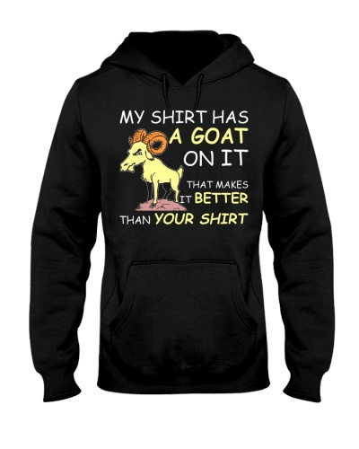 MY HAS A GOAT ON I Funny Tee Gift
