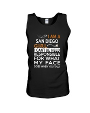 San Diego girl  i cant be held for Unisex Tank thumbnail