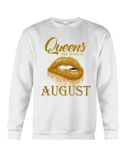 QUEENS ARE BORN IN August Crewneck Sweatshirt tile