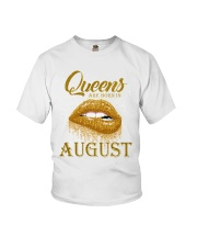 QUEENS ARE BORN IN August Youth T-Shirt thumbnail