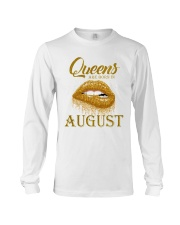 QUEENS ARE BORN IN August Long Sleeve Tee tile
