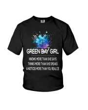Green Bay girl knows more than Youth T-Shirt thumbnail