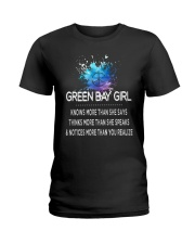 Green Bay girl knows more than Ladies T-Shirt thumbnail