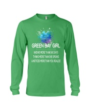Green Bay girl knows more than Long Sleeve Tee thumbnail